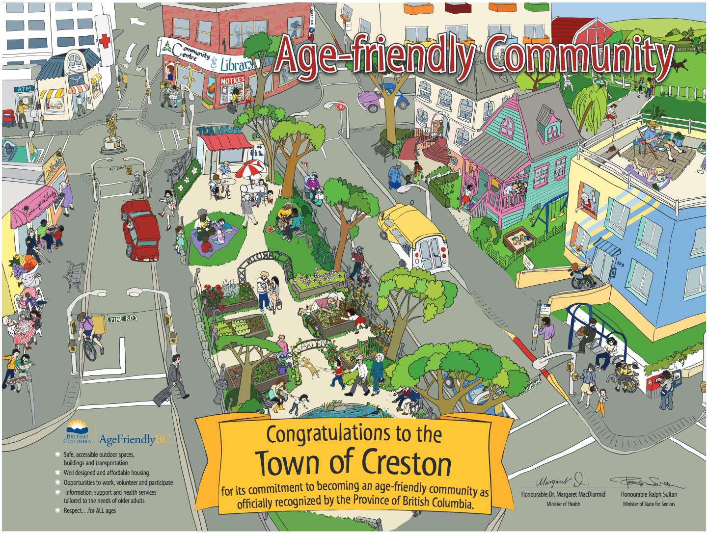 Age-Friendly B.C. Recognition to the town of Creston