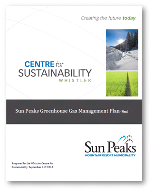 Sun Peaks GHG Reduction PLan