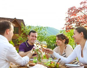 people - dining outside - tourism